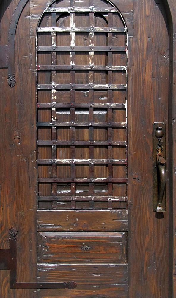 Iron Normandy Entry on La Puerta Door & Hardware Renaissance