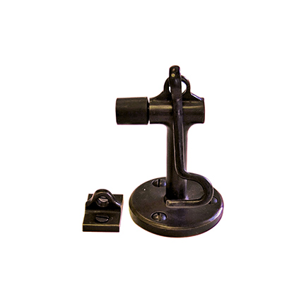 Solid Bronze Floor Door Stop with Hook