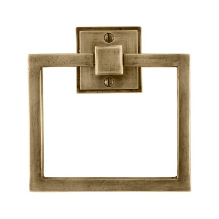 Solid Bronze East-West Towel Ring