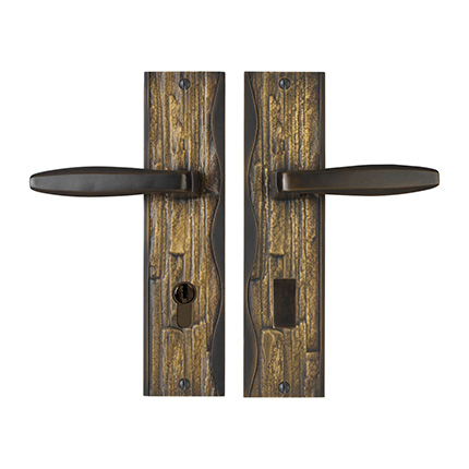 Solid Bronze Amalfi Lever Multipoint Entry Set