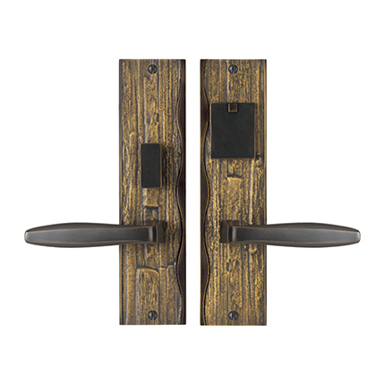 Solid Bronze Amalfi Lever Mortise Entry Set