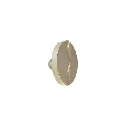 Solid Bronze Cayman 1.75 inch Oval Cabinet Knob