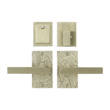 Solid Bronze Canyon Lever Deadbolt Entry Set