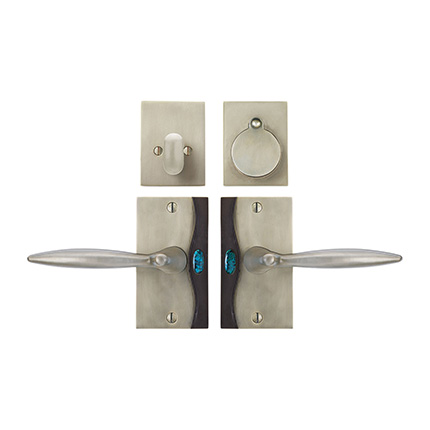 Solid Bronze Cayman Royale Lever Deadbolt Entry Set