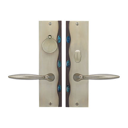 Solid Bronze Cayman Royale Lever Mortise Entry Set
