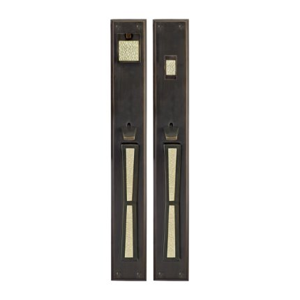 Solid Bronze Grande Manhattan Thumblatch Mortise Entry Set