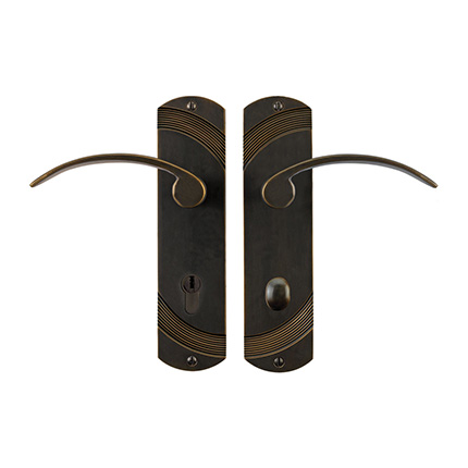Solid Bronze Greco Lever Multipoint Entry Set