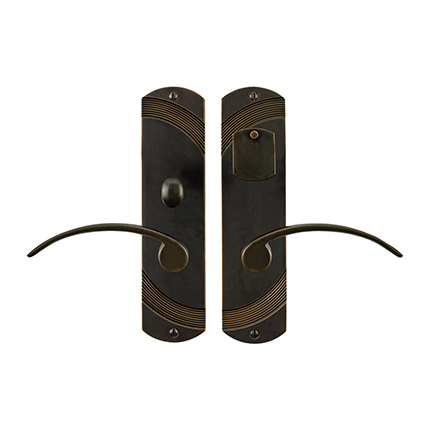 Solid Bronze Greco Lever Mortise Entry Set