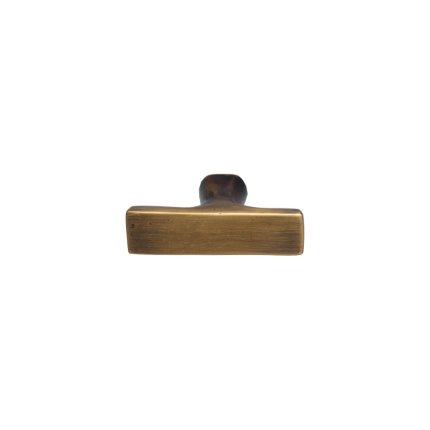 Solid Bronze 2.5 inch Cabinet Pull in Khaki Patina