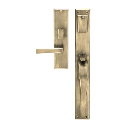 Solid Bronze Manhattan Thumblatch-Lever Mortise Entry Set
