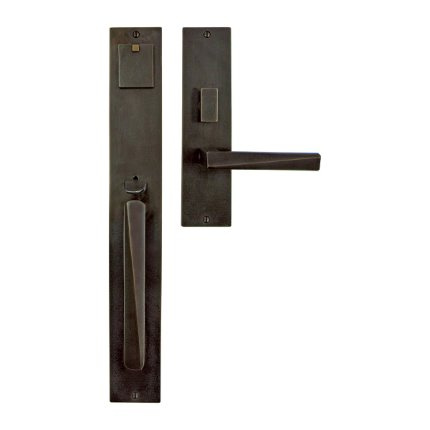 Solid Bronze Milan Thumblatch-Lever Mortise Entry Set
