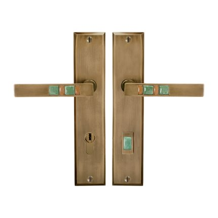 Solid Bronze Scottsdale Royale Handle Euro Mortise Set