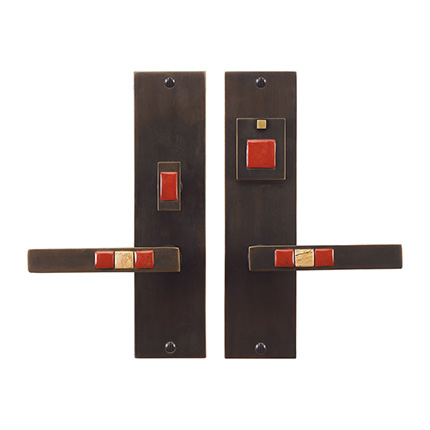 Solid Bronze Scottsdale Royale 10 inch Lever Mortise Entry Set in Midnight Gold