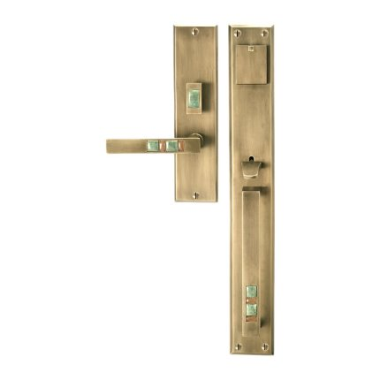 Solid Bronze Scottsdale Royale Thumblatch-Lever Mortise Entry Set