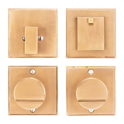 Solid Bronze Sunrise Knob Deadbolt Set