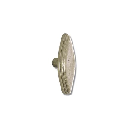 Solid Bronze Art Deco Oval 2.5 inch Cabinet Knob