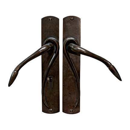 Solid Bronze Art Nouveau Lever Multipoint Entry Set