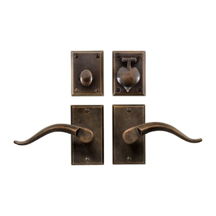 Solid Bronze Verona II Lever Deadbolt Entry Set