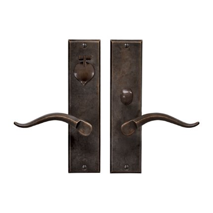 Solid Bronze Verona II Lever Mortise Entry Set