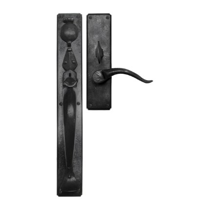 Hand Forged Iron Normandy Thumblatch-Lever Mortise Entry Set
