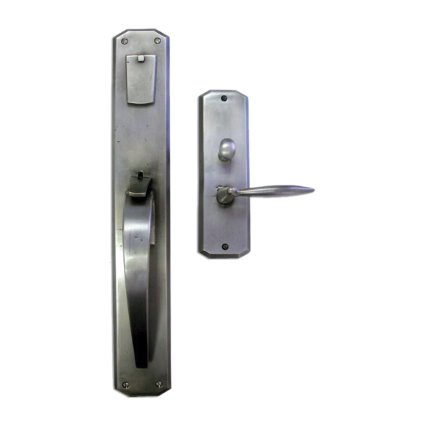 Solid Bronze Skewed Corner Thumblatch Mortise Entry Set