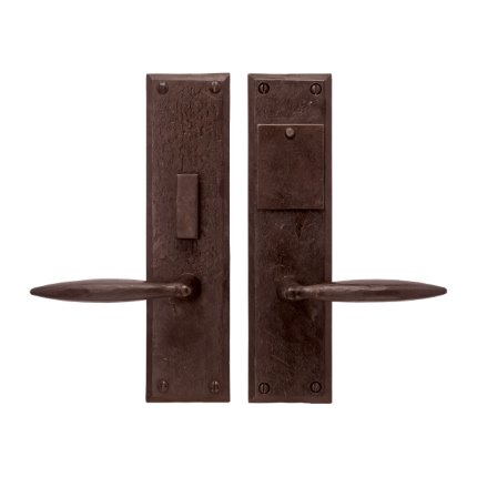 Hand Forged Iron Accent Handle US Mortise Set