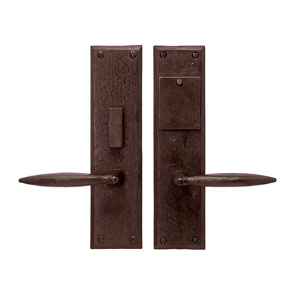 Hand Forged Iron Accent Lever Mortise Entry Set