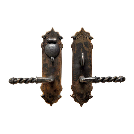 Hand Forged Iron Avila Lever Mortise Entry Set