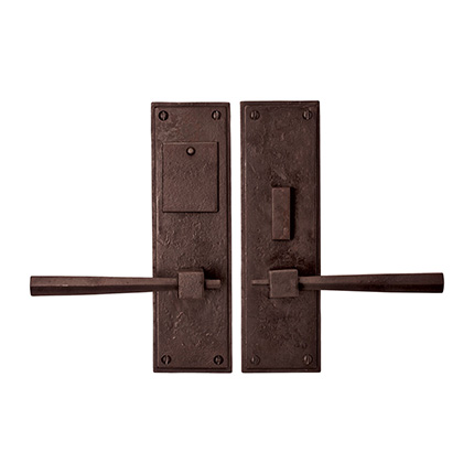Hand Forged Iron East West Lever Mortise Entry Set