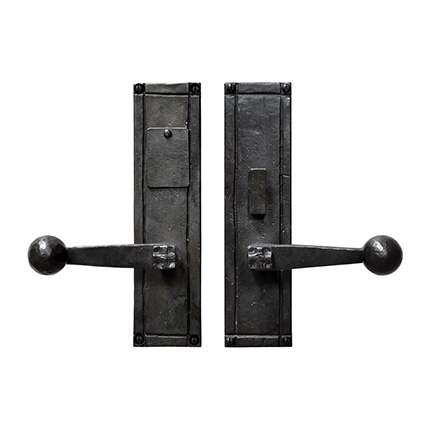 Hand Forged Iron Sierra Lever Mortise Entry Set