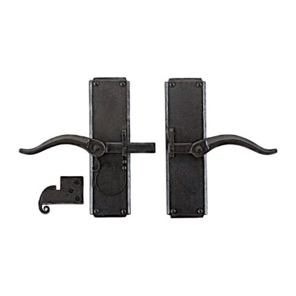 Hand Forged Iron Vertical Strike-bar Latch Passage Set