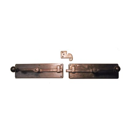 Hand Forged Iron Horizontal Strike-bar Latch Passage Set