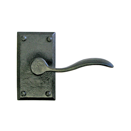 Hand Forged Iron Petite Spoon Lever with Beveled Escutcheon