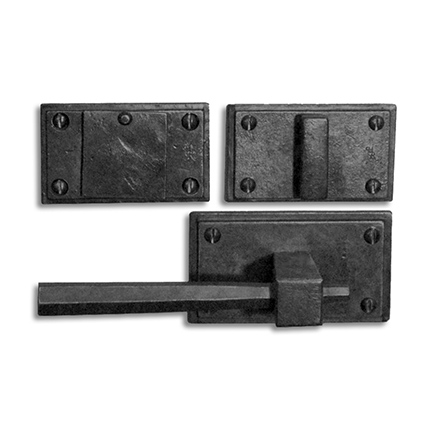 Hand Forged Iron East-West Lever Deadbolt Entry Set